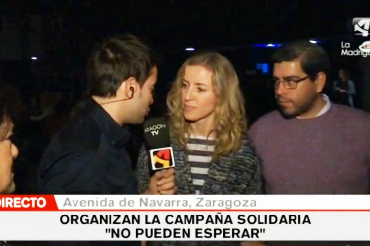 """Entrevista en directo de Aragón Televisión durante el concierto """"Canciones para una Navidad"""""""