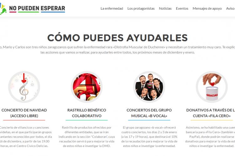 Zaragoza Ciudadana organiza una campaña solidaria para ayudar a tres niños aragoneses que padecen la enfermedad rara de Duchenne